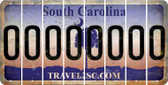 South Carolina O Cut License Plate Strips (Set of 8) LPS-SC1-015