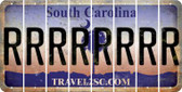 South Carolina R Cut License Plate Strips (Set of 8) LPS-SC1-018