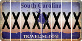 South Carolina X Cut License Plate Strips (Set of 8) LPS-SC1-024