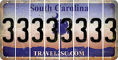 South Carolina 3 Cut License Plate Strips (Set of 8) LPS-SC1-030