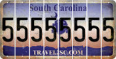 South Carolina 5 Cut License Plate Strips (Set of 8) LPS-SC1-032