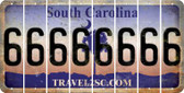 South Carolina 6 Cut License Plate Strips (Set of 8) LPS-SC1-033