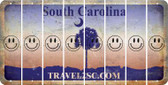 South Carolina SMILEY FACE Cut License Plate Strips (Set of 8) LPS-SC1-089