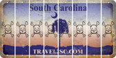 South Carolina SKULL Cut License Plate Strips (Set of 8) LPS-SC1-092