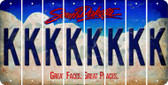 South Dakota K Cut License Plate Strips (Set of 8) LPS-SD1-011