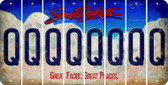 South Dakota Q Cut License Plate Strips (Set of 8) LPS-SD1-017