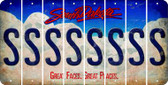 South Dakota S Cut License Plate Strips (Set of 8) LPS-SD1-019