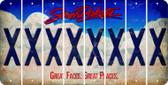 South Dakota X Cut License Plate Strips (Set of 8) LPS-SD1-024