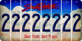 South Dakota 2 Cut License Plate Strips (Set of 8) LPS-SD1-029