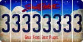 South Dakota 3 Cut License Plate Strips (Set of 8) LPS-SD1-030