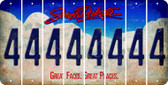 South Dakota 4 Cut License Plate Strips (Set of 8) LPS-SD1-031