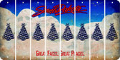 South Dakota CHRISTMAS TREE Cut License Plate Strips (Set of 8) LPS-SD1-077