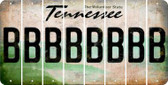 Tennessee B Cut License Plate Strips (Set of 8) LPS-TN1-002