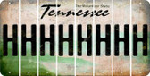 Tennessee H Cut License Plate Strips (Set of 8) LPS-TN1-008