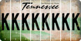 Tennessee K Cut License Plate Strips (Set of 8) LPS-TN1-011