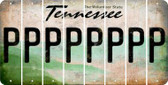 Tennessee P Cut License Plate Strips (Set of 8) LPS-TN1-016