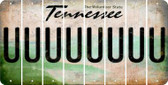 Tennessee U Cut License Plate Strips (Set of 8) LPS-TN1-021