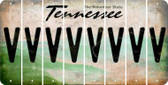 Tennessee V Cut License Plate Strips (Set of 8) LPS-TN1-022