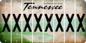 Tennessee X Cut License Plate Strips (Set of 8) LPS-TN1-024