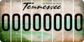 Tennessee 0 Cut License Plate Strips (Set of 8) LPS-TN1-027