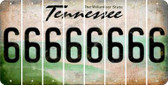Tennessee 6 Cut License Plate Strips (Set of 8) LPS-TN1-033