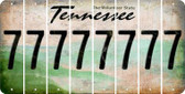 Tennessee 7 Cut License Plate Strips (Set of 8) LPS-TN1-034
