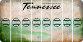 Tennessee BASEBALL / SOFTBALL Cut License Plate Strips (Set of 8) LPS-TN1-063