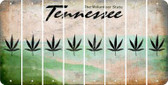 Tennessee POT LEAF Cut License Plate Strips (Set of 8) LPS-TN1-090