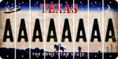 Texas A Cut License Plate Strips (Set of 8) LPS-TX1-001