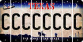 Texas C Cut License Plate Strips (Set of 8) LPS-TX1-003