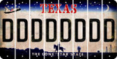 Texas D Cut License Plate Strips (Set of 8) LPS-TX1-004