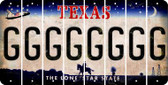 Texas G Cut License Plate Strips (Set of 8) LPS-TX1-007