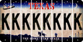 Texas K Cut License Plate Strips (Set of 8) LPS-TX1-011