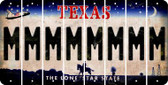 Texas M Cut License Plate Strips (Set of 8) LPS-TX1-013