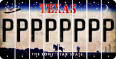 Texas P Cut License Plate Strips (Set of 8) LPS-TX1-016