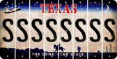 Texas S Cut License Plate Strips (Set of 8) LPS-TX1-019