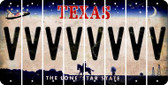 Texas V Cut License Plate Strips (Set of 8) LPS-TX1-022