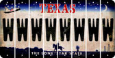 Texas W Cut License Plate Strips (Set of 8) LPS-TX1-023