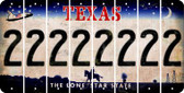 Texas 2 Cut License Plate Strips (Set of 8) LPS-TX1-029