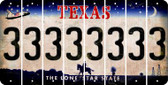 Texas 3 Cut License Plate Strips (Set of 8) LPS-TX1-030