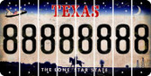 Texas 8 Cut License Plate Strips (Set of 8) LPS-TX1-035