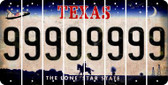 Texas 9 Cut License Plate Strips (Set of 8) LPS-TX1-036