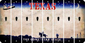 Texas APOSTROPHE Cut License Plate Strips (Set of 8) LPS-TX1-038