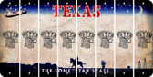 Texas BASKETBALL HOOP Cut License Plate Strips (Set of 8) LPS-TX1-058