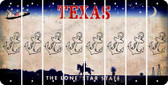 Texas ANCHOR Cut License Plate Strips (Set of 8) LPS-TX1-093