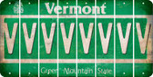 Vermont V Cut License Plate Strips (Set of 8) LPS-VT1-022