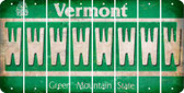 Vermont W Cut License Plate Strips (Set of 8) LPS-VT1-023
