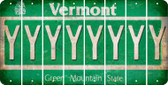 Vermont Y Cut License Plate Strips (Set of 8) LPS-VT1-025
