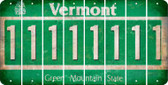 Vermont 1 Cut License Plate Strips (Set of 8) LPS-VT1-028
