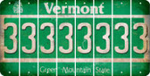 Vermont 3 Cut License Plate Strips (Set of 8) LPS-VT1-030